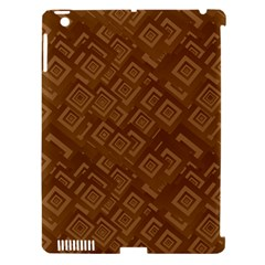 Brown Pattern Rectangle Wallpaper Apple Ipad 3/4 Hardshell Case (compatible With Smart Cover)