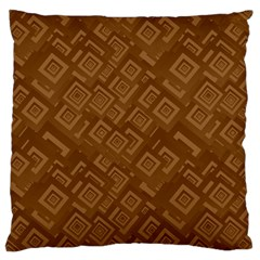 Brown Pattern Rectangle Wallpaper Large Cushion Case (one Side)
