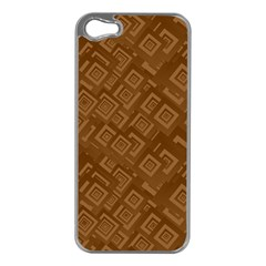 Brown Pattern Rectangle Wallpaper Apple Iphone 5 Case (silver)