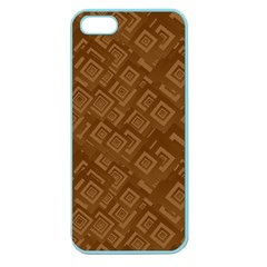 Brown Pattern Rectangle Wallpaper Apple Seamless Iphone 5 Case (color)