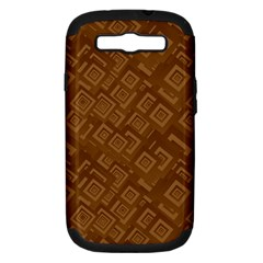 Brown Pattern Rectangle Wallpaper Samsung Galaxy S Iii Hardshell Case (pc+silicone)