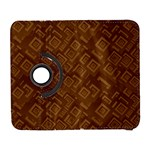 Brown Pattern Rectangle Wallpaper Galaxy S3 (Flip/Folio) Front
