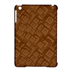 Brown Pattern Rectangle Wallpaper Apple iPad Mini Hardshell Case (Compatible with Smart Cover)