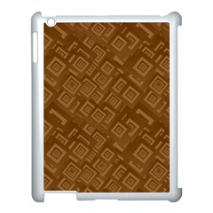 Brown Pattern Rectangle Wallpaper Apple iPad 3/4 Case (White)