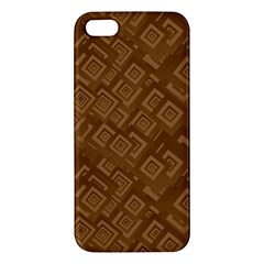 Brown Pattern Rectangle Wallpaper Apple Iphone 5 Premium Hardshell Case