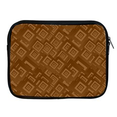 Brown Pattern Rectangle Wallpaper Apple Ipad 2/3/4 Zipper Cases