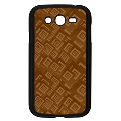 Brown Pattern Rectangle Wallpaper Samsung Galaxy Grand DUOS I9082 Case (Black)