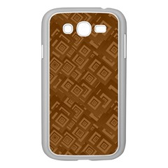 Brown Pattern Rectangle Wallpaper Samsung Galaxy Grand Duos I9082 Case (white)