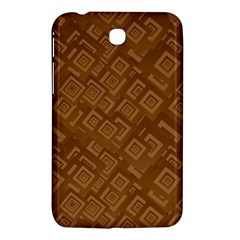 Brown Pattern Rectangle Wallpaper Samsung Galaxy Tab 3 (7 ) P3200 Hardshell Case