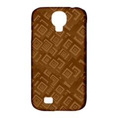 Brown Pattern Rectangle Wallpaper Samsung Galaxy S4 Classic Hardshell Case (pc+silicone)