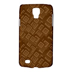 Brown Pattern Rectangle Wallpaper Galaxy S4 Active