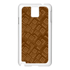 Brown Pattern Rectangle Wallpaper Samsung Galaxy Note 3 N9005 Case (white)