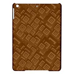 Brown Pattern Rectangle Wallpaper iPad Air Hardshell Cases
