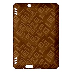 Brown Pattern Rectangle Wallpaper Kindle Fire Hdx Hardshell Case