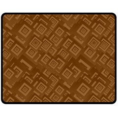 Brown Pattern Rectangle Wallpaper Double Sided Fleece Blanket (medium)