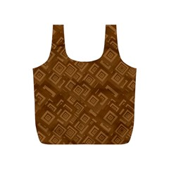 Brown Pattern Rectangle Wallpaper Full Print Recycle Bags (s)