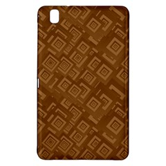 Brown Pattern Rectangle Wallpaper Samsung Galaxy Tab Pro 8 4 Hardshell Case