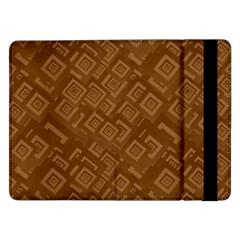 Brown Pattern Rectangle Wallpaper Samsung Galaxy Tab Pro 12 2  Flip Case