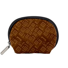 Brown Pattern Rectangle Wallpaper Accessory Pouches (small)