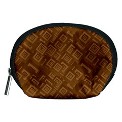 Brown Pattern Rectangle Wallpaper Accessory Pouches (medium)