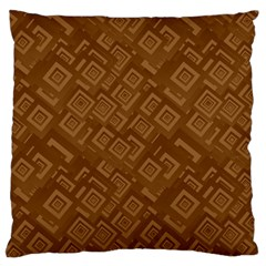 Brown Pattern Rectangle Wallpaper Large Flano Cushion Case (two Sides)