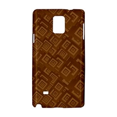 Brown Pattern Rectangle Wallpaper Samsung Galaxy Note 4 Hardshell Case