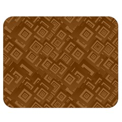 Brown Pattern Rectangle Wallpaper Double Sided Flano Blanket (medium)