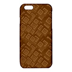 Brown Pattern Rectangle Wallpaper iPhone 6/6S TPU Case