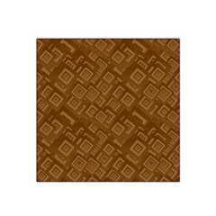 Brown Pattern Rectangle Wallpaper Satin Bandana Scarf
