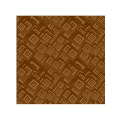Brown Pattern Rectangle Wallpaper Small Satin Scarf (square)
