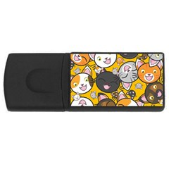 Cats pattern USB Flash Drive Rectangular (1 GB)