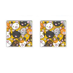 Cats pattern Cufflinks (Square)