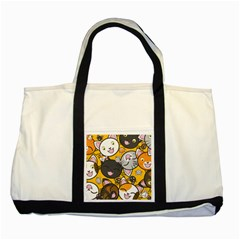 Cats pattern Two Tone Tote Bag