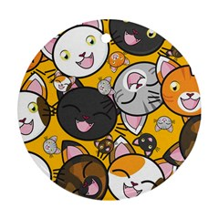 Cats pattern Round Ornament (Two Sides)