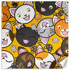 Cats pattern Canvas 20  x 20
