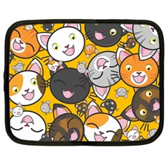 Cats pattern Netbook Case (Large)