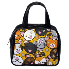 Cats pattern Classic Handbags (One Side)