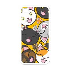 Cats pattern Apple iPhone 4 Case (White)