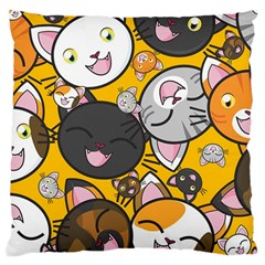 Cats pattern Large Cushion Case (Two Sides)