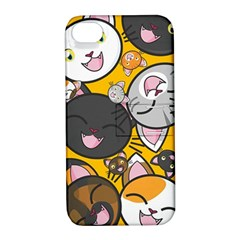 Cats Pattern Apple Iphone 4/4s Hardshell Case With Stand