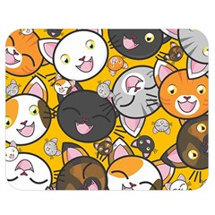 Cats pattern Double Sided Flano Blanket (Medium)