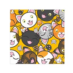 Cats pattern Small Satin Scarf (Square)