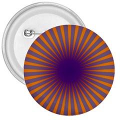 Retro Circle Lines Rays Orange 3  Buttons