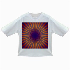 Retro Circle Lines Rays Orange Infant/Toddler T-Shirts
