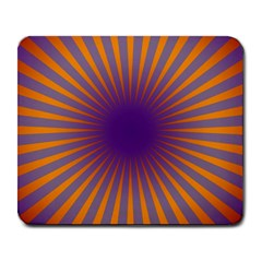 Retro Circle Lines Rays Orange Large Mousepads