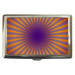 Retro Circle Lines Rays Orange Cigarette Money Cases