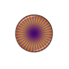 Retro Circle Lines Rays Orange Hat Clip Ball Marker