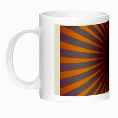 Retro Circle Lines Rays Orange Night Luminous Mugs