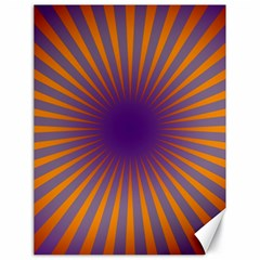 Retro Circle Lines Rays Orange Canvas 18  X 24