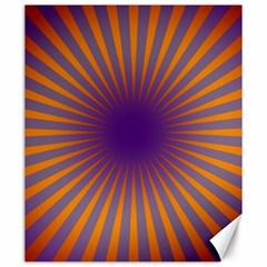 Retro Circle Lines Rays Orange Canvas 20  X 24
